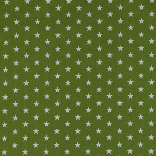 Baumwolle | bedruckt | 10mm Sterne | grün/weiss