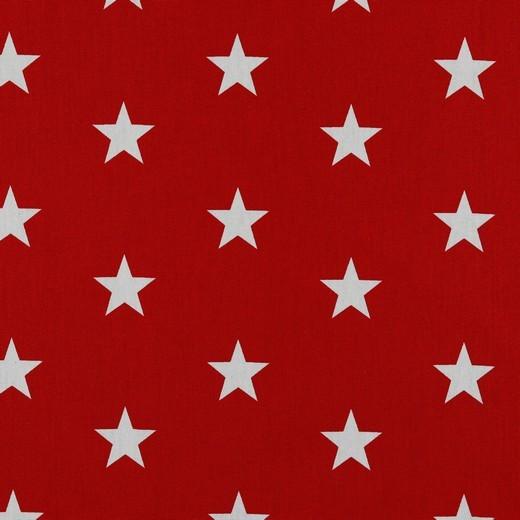 Baumwolle | bedruckt | 3cm Sterne | rot/weiss