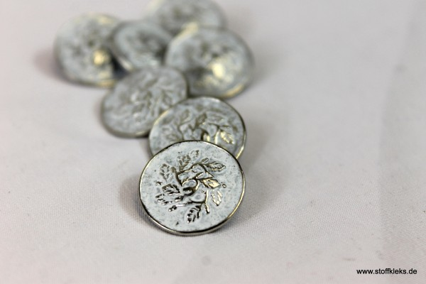 5 Vintage-Metallknöpfe mit Öse | ca. 1,8 cm