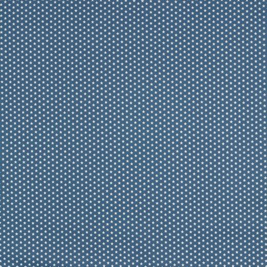 Baumwolle | bedruckt | 4mm little stars | jeansblau