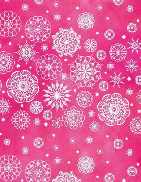 Jersey | bedruckt | Mandala | pink