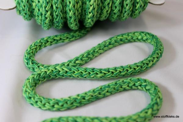 Baumwollkordel   8mm   grün/dunkelgrün
