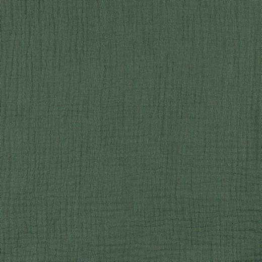 Baumwolle | double gauze/Musselin | Uni | vintagegrün