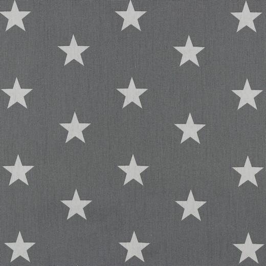 Baumwolle | bedruckt | 3cm Sterne | grau/weiss
