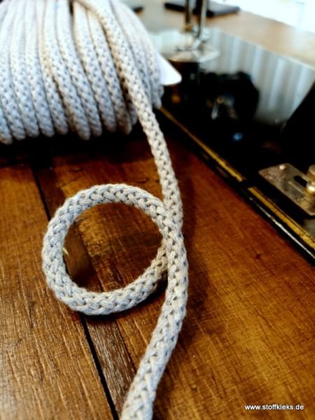 Baumwollkordel   8mm   beige/grau