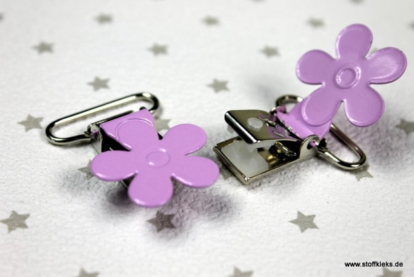 Applikation & Co | Metallclips | Blume | flieder