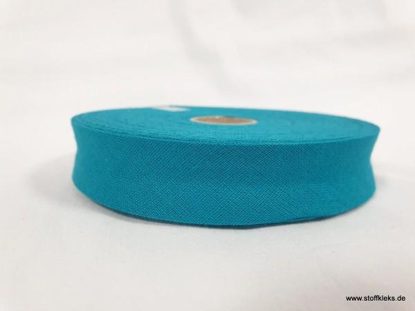 Schrägband/Einfassband | 20mm | Baumwolle | petrol | 3m