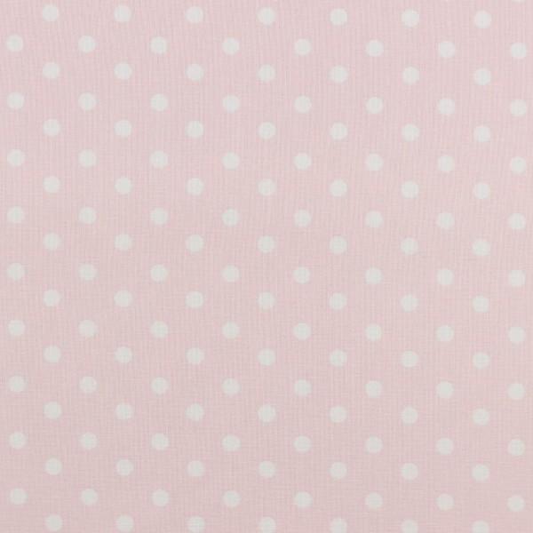 Baumwolle | bedruckt | 8mm Punkte | altrosa / weiss