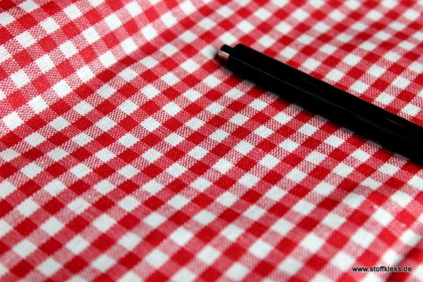 beschichtete Baumwolle / Wachstuchstück| Vichy | rot