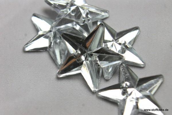 5 Knöpfe | Stern | Kristall | 1 ,5 cm