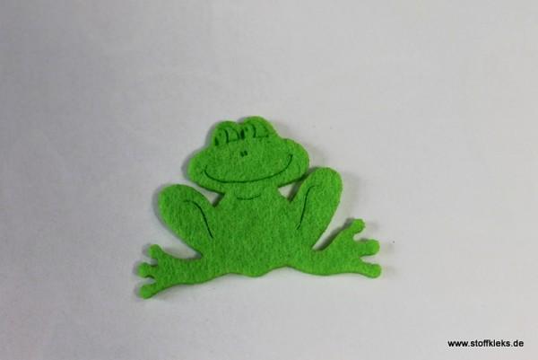 Filzapplikation | Frosch | hellgrün