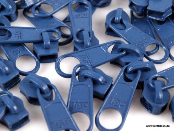 Zipper | Reißverschluss | endlos | Spirale 5mm | steinblau