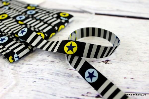 Webband | Design Blaubeerstern | stars & stripes | 1,5 cm