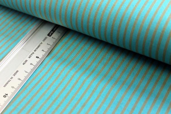 Baumwolle | bedruckt | long stripes | petrol / grau