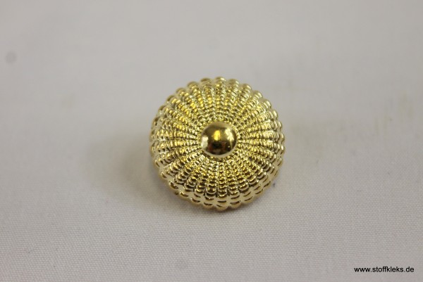 Knopf | Kunststoff | goldene Blume | 1,6 cm