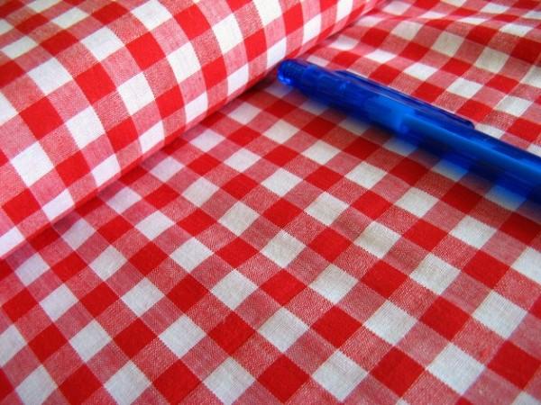 Baumwolle | Vichy | 8mm | rot/weiß