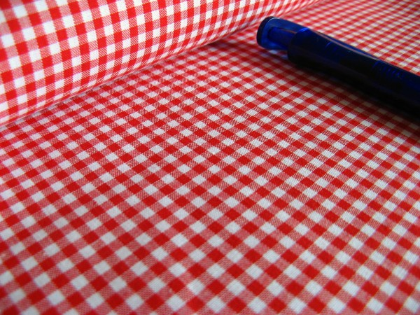 Baumwolle | Vichy | 3mm | rot/weiß