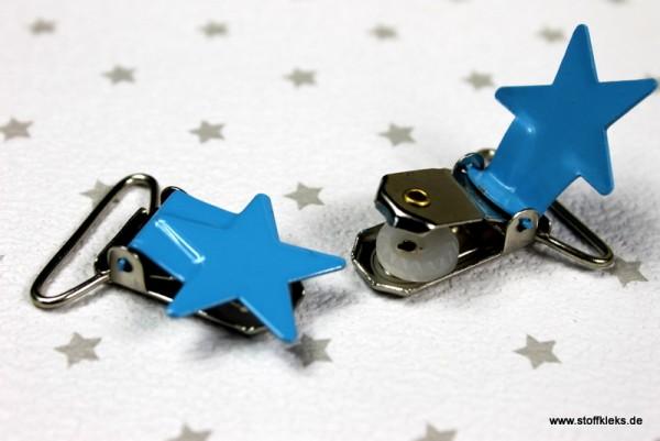 Applikation & Co | Metallclips | Stern | blau
