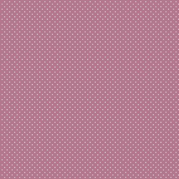 Baumwolle | bedruckt | 1mm Punkte | malve / weiß