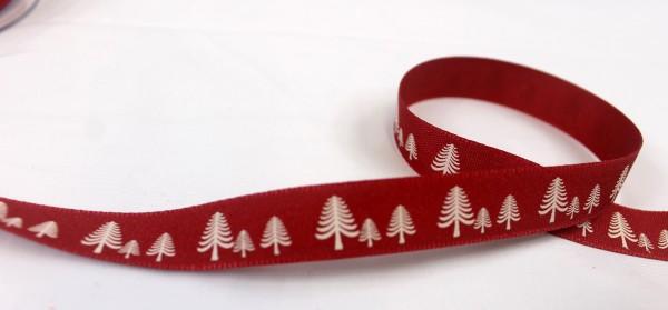 Ripsband | Tannenbaum | rot | 15mm