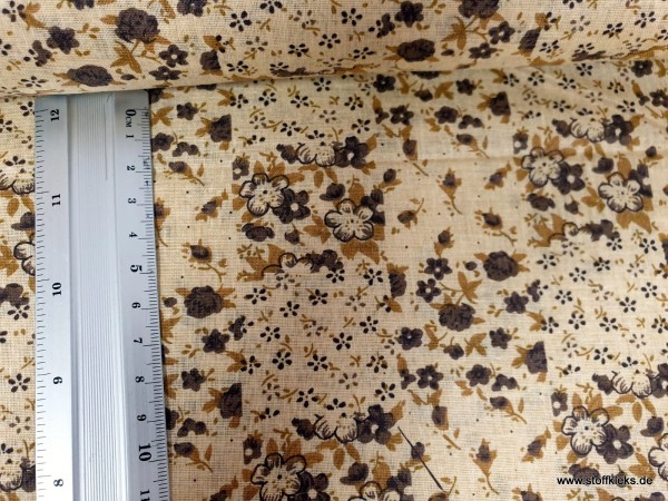 Baumwolle | bedruckt | Patchworkprint | beige