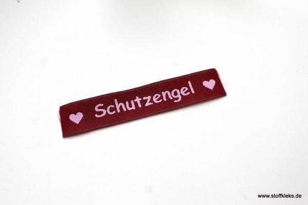Applikation | Label | Schutzengel | Beere mit rosa | 1,5 cm