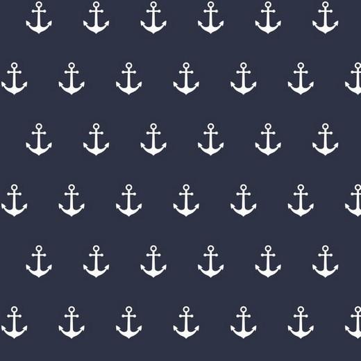 Baumwolle | bedruckt | Anker | marine