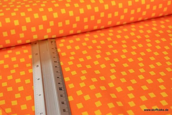 Baumwolle | bedruckt | Quadrate | orange