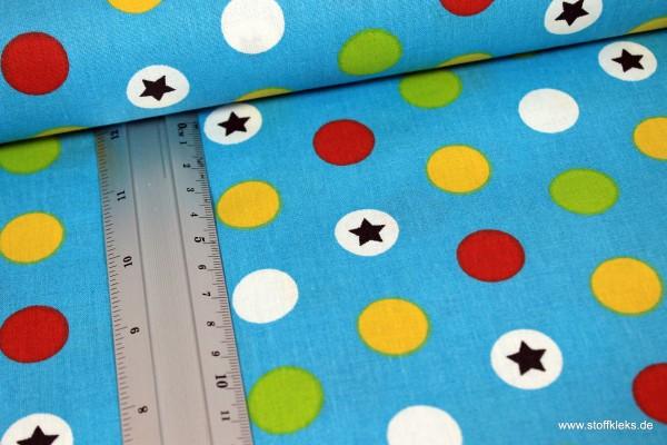 Baumwolle | bedruckt | Bällebad | blau