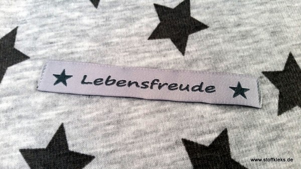 Applikation | Label | Lebensfreude | grau