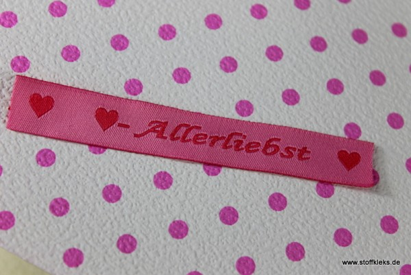 Applikation | Label | Allerliebst | rosa