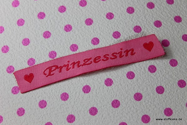 Applikation | Label | Prinzessin | rosa