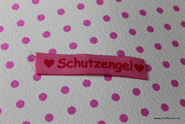Applikation | Label | Schutzengel | rosa
