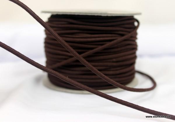 Gummikordel 3mm| dunkelbraun