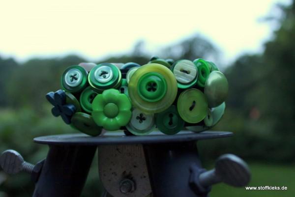 Knopfarmband - Set zum Selbermachen | grün