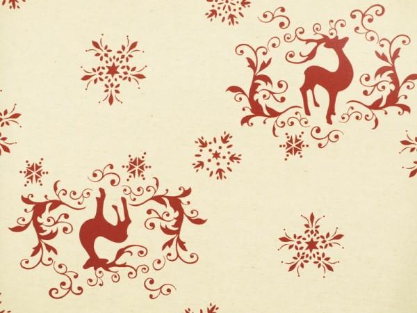 Canvas | Baumwolle | bedruckt | Weihnachtshirsch