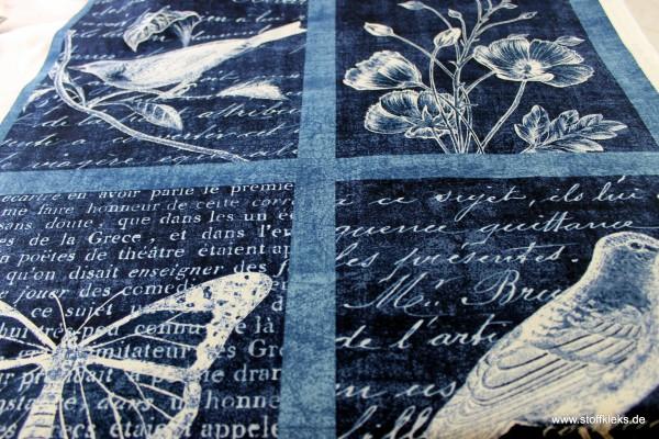 Baumwolle | bedruckt | Robert Kaufman | design #15972 Botanical Beauty | dunkelblau