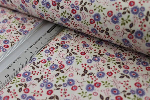Baumwolle | bedruckt | Blümchenmeer | lila