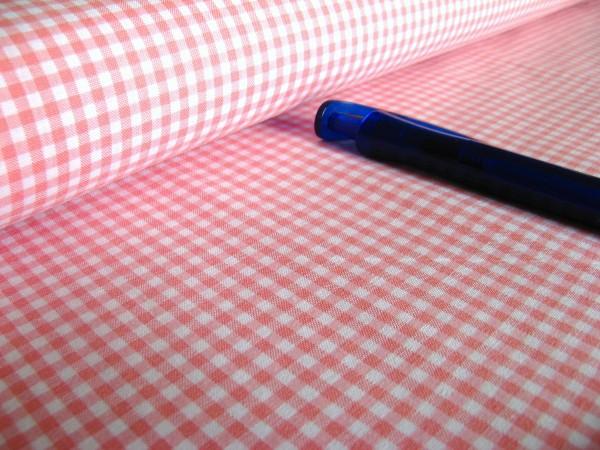 Baumwolle | Vichy | 3mm | rosa/weiß