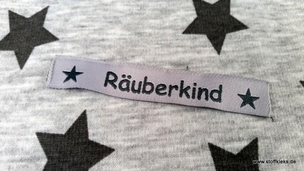 Applikation | Label | Räuberkind | grau