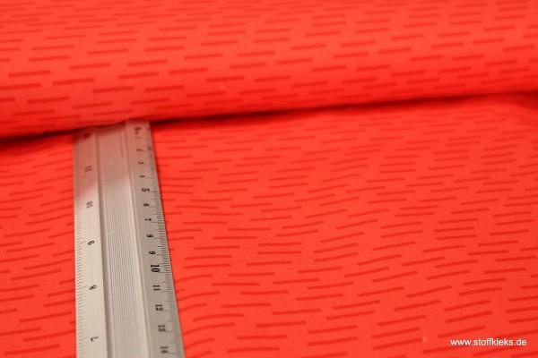 Baumwolle | bedruckt | kleine Streifen | ziegelrot