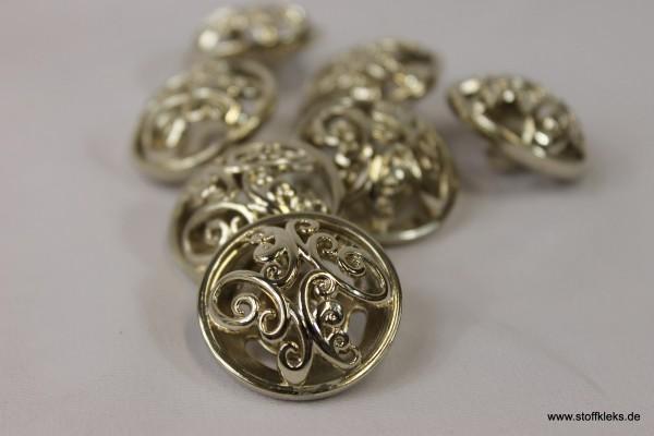 1 goldener Metallknopf mit Öse | ca 2,8cm