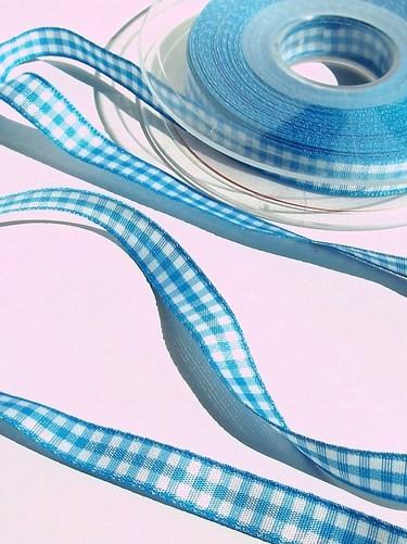 Band | Vichy| blau/weiß