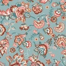 Baumwolle | bedruckt | PAISLEY FLOWER | hellblau