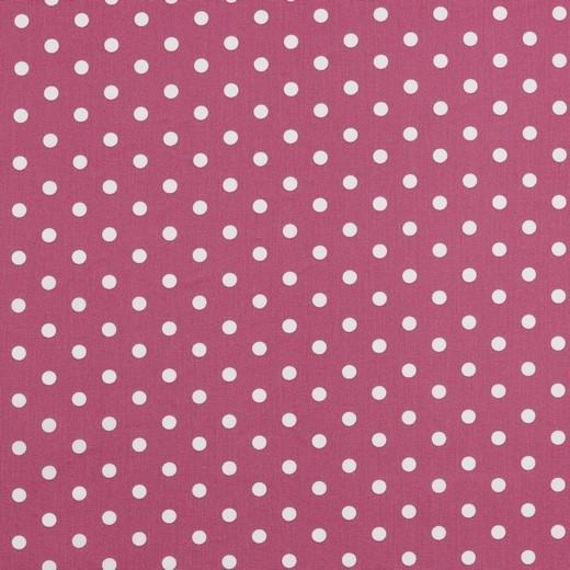Baumwolle | bedruckt | 8mm Punkte | malve / weiss