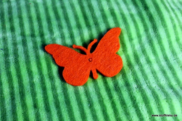 Filzapplikation | Schmetterling | orange