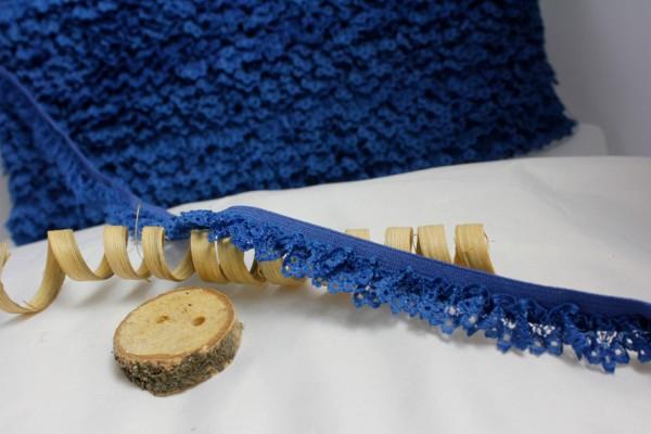 Rüschenband | Elastisch | 15mm | dunkelblau