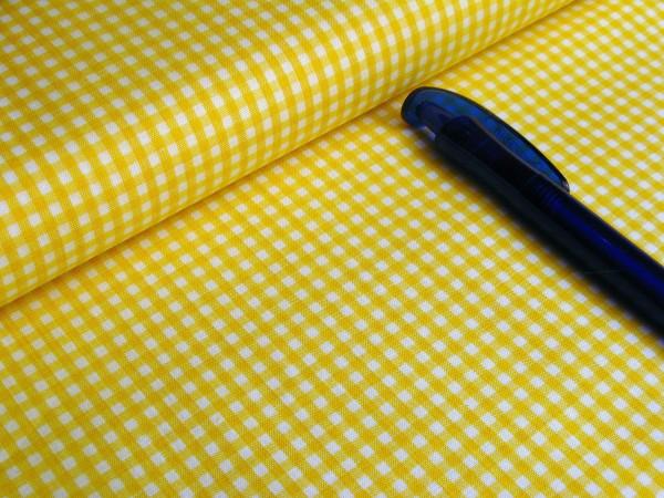 Baumwolle   Vichy   3mm   gelb/weiß