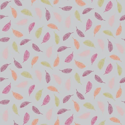 Baumwolle | bedruckt | COLORFUL LEAVES | grau